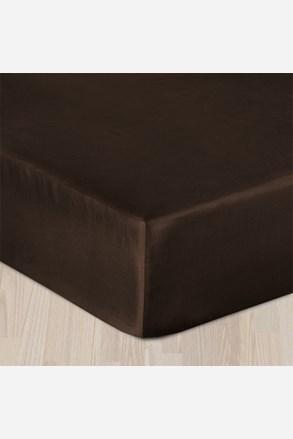 Gumis pamut szatén lepedő barna