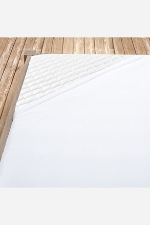 Gumis pamut vászon lepedő fehér