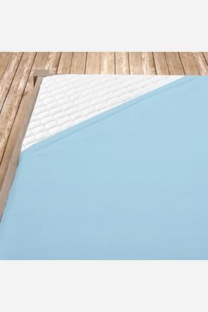 Sima pamut vászon lepedő világos kék