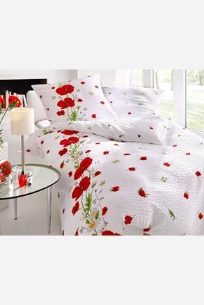 Red Poppy krepp ágyneműhuzat