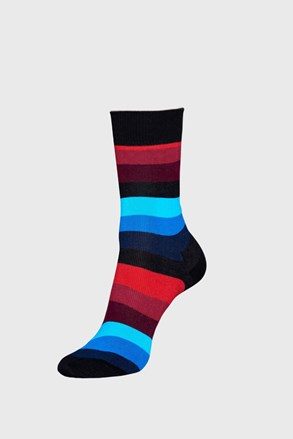 Happy Socks Stripe zokni, fekete