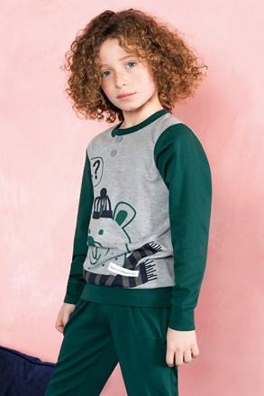 Bear zöld fiú pizsama