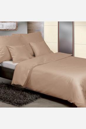 Egyszínű szatén ágyneműhuzat, bézs