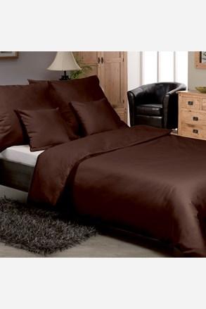 Egyszínű szatén ágyneműhuzat, barna