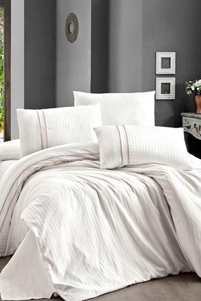 Stripe cream luxus ágyneműhuzat