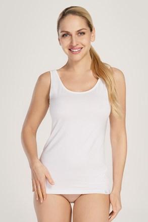 ELKA LOUNGE Classic női top, fehér