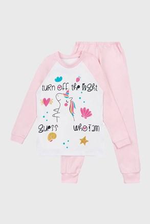 Unicorn Dream lány világító pizsama