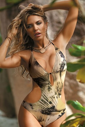 Grenada khaki női monokini