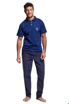 Vote férfi pizsama gallérral