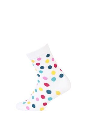 Gyerek zokni sima, színes-pöttyös mintás