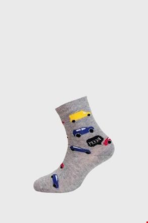 Autók fiú zokni