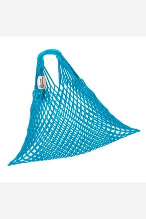 Türkizkék rugalmas hálós táska
