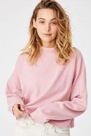 Brina Oversized női szabadidő felső, rózsaszín