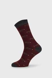 Piros zokni Fantasy Winter