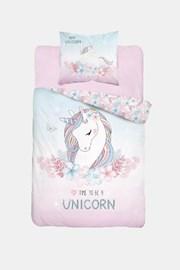Unicorn sötétben világító ágyneműhuzat lányok részére