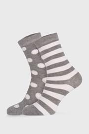 Long szürke női zokni, 2 pár