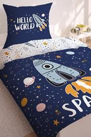 Space sötétben világító ágyneműhuzat fiúk részére