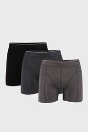 3 DB  szürke-fekete boxeralsó Tender Cotton