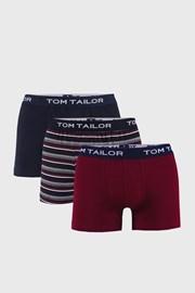 3 DB piros-kék boxeralsó Tom Tailor