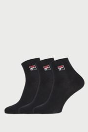 FILA fekete bokazokni, 3 pár egy csomagban