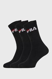 FILA magasabb zokni fekete, 3 pár 1 csomagban