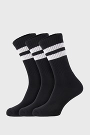 3 PÁR magasabb szárú fekete zokni Active