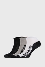 3 PÁR fekete-szürke színű zokni Dunlop