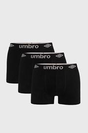3 DB fekete boxeralsó Umbro Organic cotton
