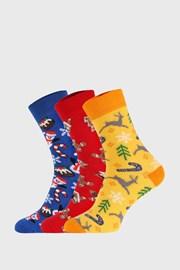 3 PÁR karácsonyi zokni II