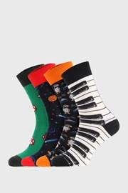 4 PÁR zokni Bellinda Crazy Socks Space