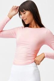 Side női póló, rózsaszín