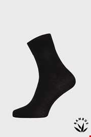 Fekete bambusz zokni, magas