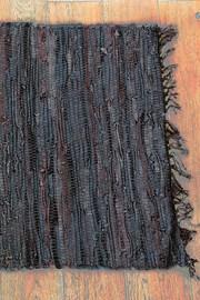 Home design szőnyeg bőrből, barna