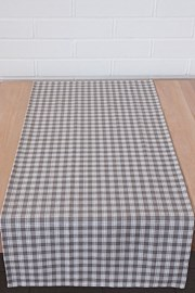 Home Design asztali futó, kockás mintás, bézs
