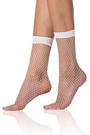 Bellinda NET divatos necc zokni, fehér