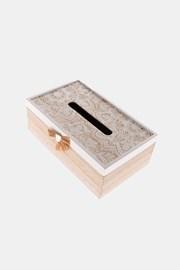 Zsebkendőtartó doboz fából