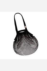 Fekete hálós táska, vállon hordható, cseh termék