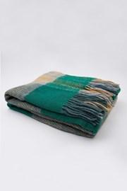 Luxus pléd új-zélandi gyapjúból, kék-zöld