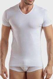 V neck férfi póló, fehér