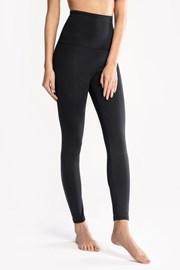 Női pamut leggings, fekete
