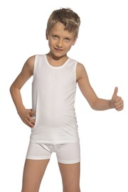 Fiú szett trikó és boxeralsó, fehér
