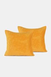 2 DB Laila sárga kispárnahuzat