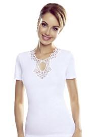 Leila fehér női póló
