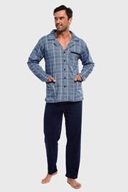 Férfi pizsama kockás mintás Ales III