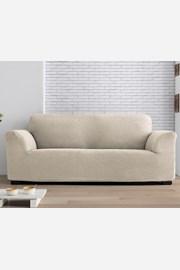 Milos kétszemélyes kanapéhuzat, krémszínű
