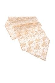 Asztali futó fehér-arany