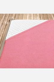 Rózsaszín frottír gumis lepedő
