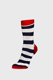 Happy Socks Stripe zokni, kék-fehér