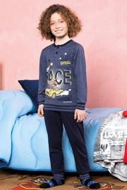 Race kék fiú pizsama