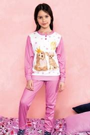 Hallo lányka pizsama, rózsaszín